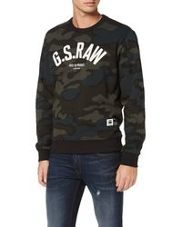 G-Star RAW Graphic 12 Slim Crew Sudadera - Negro