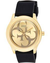 Guess Analog Quarz Uhr mit Silikon Armband W0911L3 - Schwarz