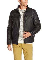 Vince Camuto - Coated-cotton Moto Jacket - Lyst
