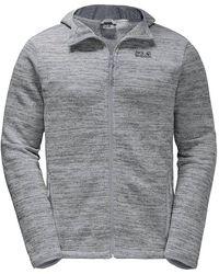 Jack Wolfskin Aquila Mens Full Zip Hoodie Hoody Jacket Grey - L