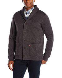 Levi's - Rand Shaw Collar Fleece Sweater Cardigan - Lyst