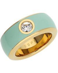 Esprit Ring Gold-plated Resin Fancy 57 - Metallic