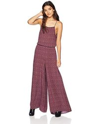 O'neill Sportswear Claudia Flare Leg Jumpsuit - Purple
