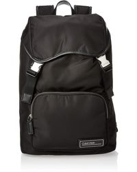 Calvin Klein Primary Backpack W Flap - Negro