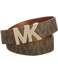 Michael Kors Signature Logo Wide Belt - Marrone