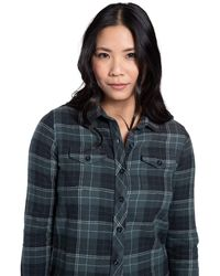 Mountain Warehouse Willow Brushed Flannel Ls Womens Shirt - Lightweight, Soft Lining With Extra Warmth & Comfort - Easy To Pack - Green