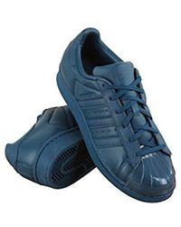 adidas Cotton Gazelle Sneakers in Blue Lyst