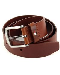 Tommy Hilfiger New Denton Belt 4.0 W115 Dark Tan - Marron