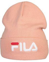 Fila - Berretto invernale con logo corallo Taglia - Lyst