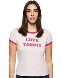 Tommy Hilfiger - Ss Tee Slogan Pyjama Top - Lyst