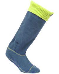 Regatta Great Outdoors S/ladies Fleece Wellington Boot Socks - Blue
