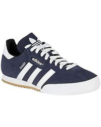 attractive price run shoes incredible prices adidas Originals Samba Super Suede Trainer Blue Leather Trainers ...