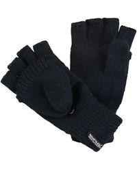 Regatta S Black Fingerless Knitted Gloves M