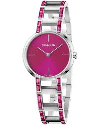 Calvin Klein Cheers Quartz Pink Dial Ladies Watch