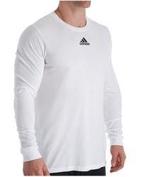 adidas Amplifier Long Sleeve Logo T-shirt - White