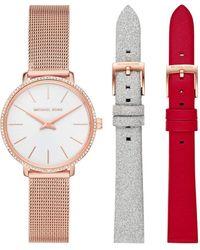 Michael Kors Damen-Uhren Analog Quarz One Size Edelstahl 87757277 - Mettallic