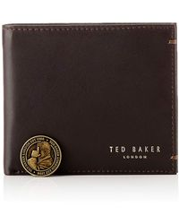 Ted Baker Core Bifold Leather Travel Accessory- Bi-fold Wallet - Brown
