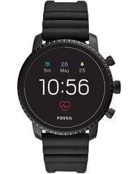 Fossil FTW4018 Gen 4 Explorist HR -Smartwatch digitale da uomo con Cinturino in Silicone - Nero