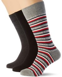 Tommy Hilfiger Th Sock 3p Logo Giftbox chaussettes - Bleu