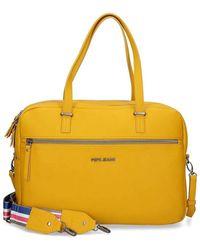 Pepe Jeans Eva Ocher Laptop Briefcase - Yellow
