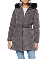 Dorothy Perkins Long Luxe Padded Jacket Quilted - Grey