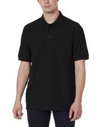 HIKARO Amazon Brand Polo ches Courtes Respirantes Classic Casual Work Sports Golf Polo T-Shirts pour s Black L - Noir