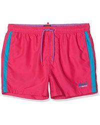 Superdry Beach Volley Swim Short Bañador para Hombre - Rosa