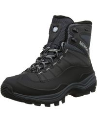 Merrell Thermo Chill Mid Shell Waterproof Snow Boots - Black