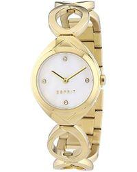 Esprit Analogue Quartz Watch With Stainless Steel Bracelet - Metallic