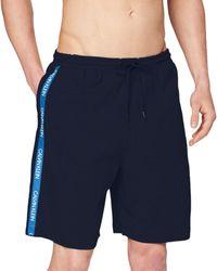 Calvin Klein Medium Jersey Short Bas De Pyjama - Bleu