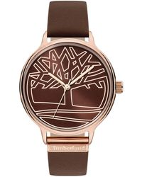 Timberland S Analogue Quartz Watch With Leather Strap Tbl15644myr.12 - Multicolour