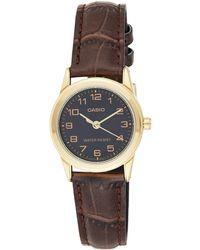 Timex Orologio Analogico da Donna con Cinturino in Pelle LTP-V001GL-1B - Multicolore