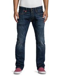 Replay Newbill Straight Jeans, - Blue