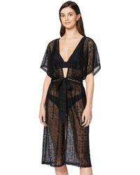 Iris & Lilly Amazon Brand - Women's Cover-up, Black (black), Xxl, Label:xxl