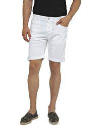 Replay - Rbj.901 Short Pantaloncini Uomo, Bianco (White 1) W36 (Taglia Produttore: 36) - Lyst
