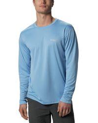Columbia Standard Pfg Zero Rules Long Sleeve Shirt - Blue