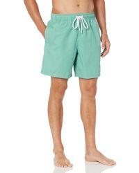 "Goodthreads 7"" Inseam Swim Trunk Fashion Trunks - Azul"