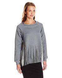 Clover Canyon - Sportswear Neoprene Laser Cut Sweatshirt - Lyst