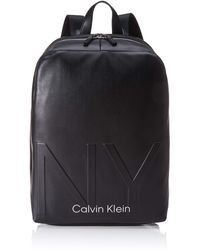 Calvin Klein Shaped Round Backpack - Negro