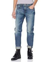 G-Star RAW Arc 3d Low Boyfriend Jeans In Tobe Denim - Blue