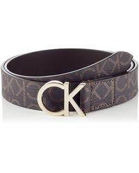 Calvin Klein CK Belt 3cm Ceinture - Marron