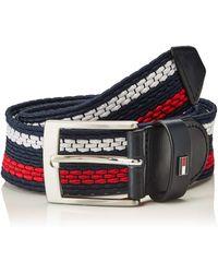 Tommy Hilfiger Adan Stripe Elastic 3.5 Cinturón - Azul