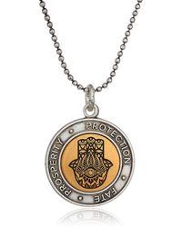 ALEX AND ANI 20 Two-tone Hamsa Adjustable Necklace - Metallic