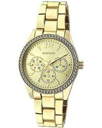 Ellen Tracy - Quartz Metal And Alloy Watch, Color:gold-toned (model: Et5218gd) - Lyst