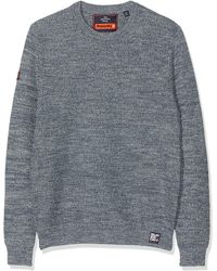 Superdry Upstate Crew Pull - Bleu