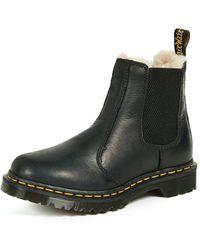 Dr. Martens Leonore Faux Fur Lined Chelsea Boot - Black