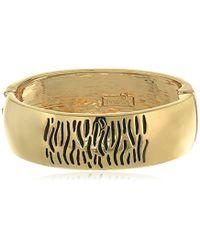 Kensie - Textured Hinge Bracelet - Lyst