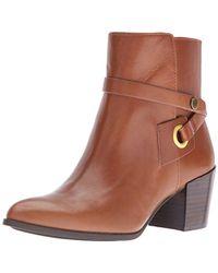 Anne Klein - Globalist Leather Ankle Bootie - Lyst