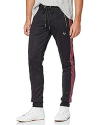 True Religion Pant Stripe Uni Black Pantaloni Sportivi Uomo - Nero
