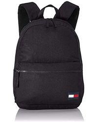 Tommy Hilfiger Logo Patch Backpack - Black